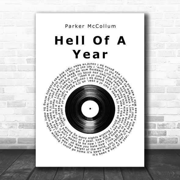 Parker McCollum Hell Of A Year Vinyl Record Song Lyric Quote Music Print