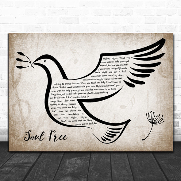 George Michael Soul Free Vintage Dove Bird Song Lyric Quote Music Print