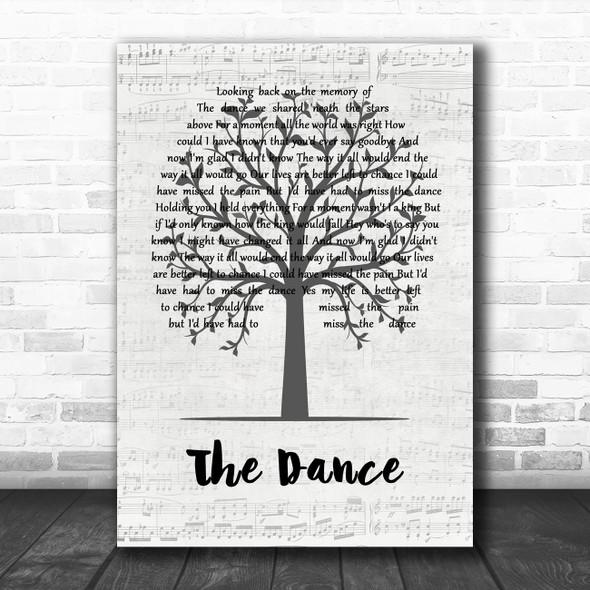 Garth Brooks The Dance Music Script Tree Song Lyric Quote Music Print