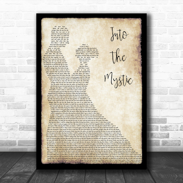 Van Morrison Into The Mystic Song Lyric Man Lady Dancing Music Wall Art Print