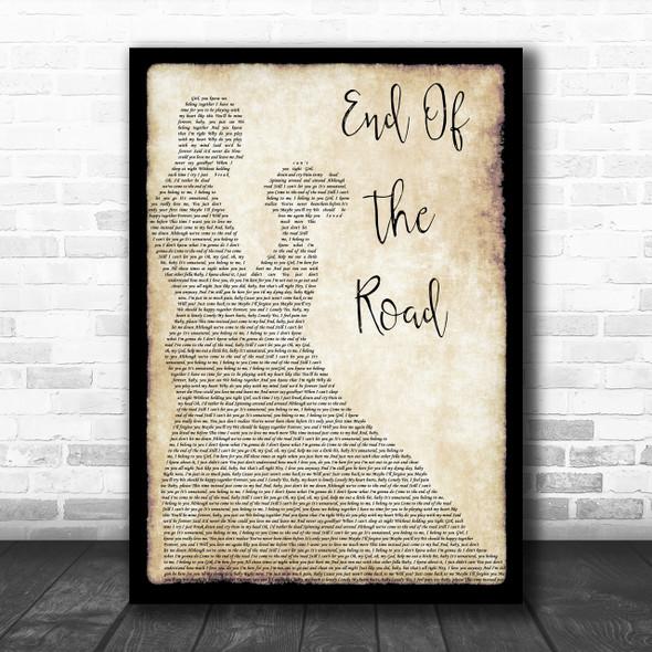Boyz II Men End Of The Road Man Lady Dancing Song Lyric Music Wall Art Print