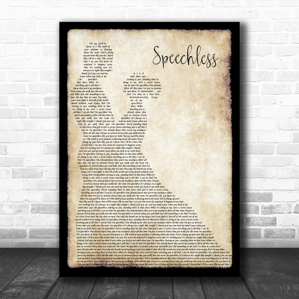 Dan + Shay Speechless Song Lyric Man Lady Dancing Music Wall Art Print