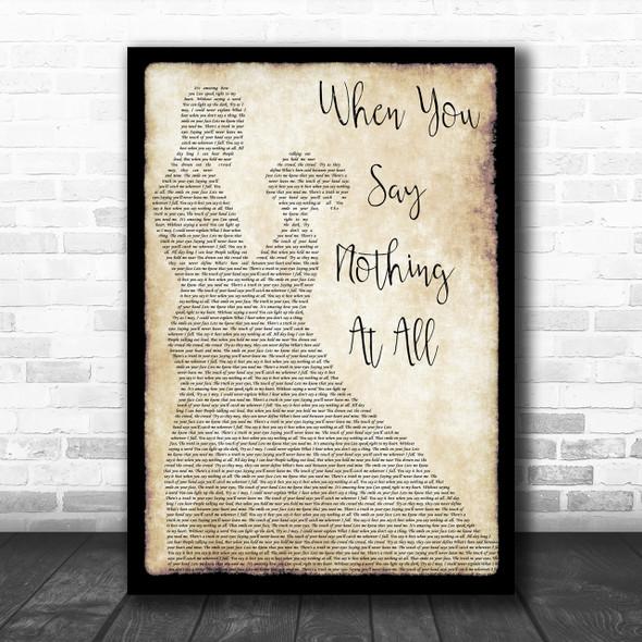 Ronan Keating When You Say Nothing At All Man Lady Dancing Song Lyric Music Wall Art Print
