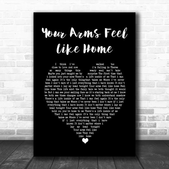 3 Doors Down Your Arms Feel Like Home Black Heart Song Lyric Wall Art Print