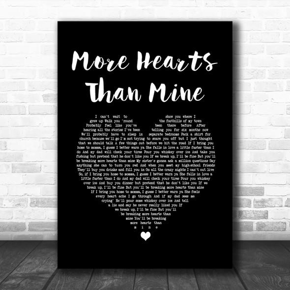 Ingrid Andress More Hearts Than Mine Black Heart Song Lyric Wall Art Print