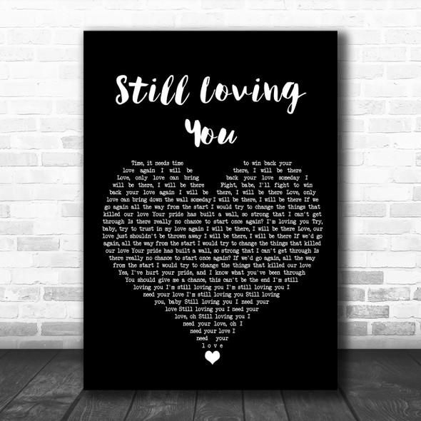 Scorpions Still Loving You Black Heart Song Lyric Wall Art Print