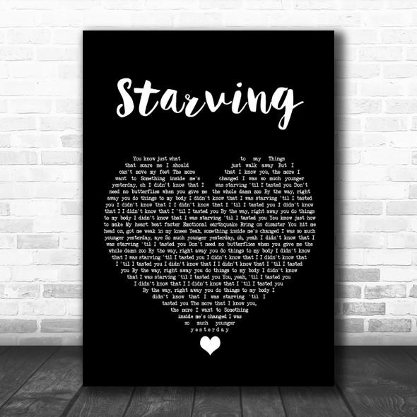 Hailee Steinfeld Starving Black Heart Song Lyric Wall Art Print