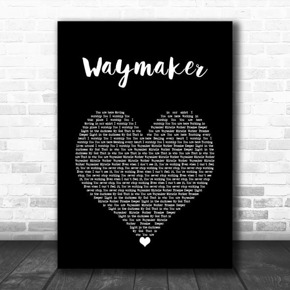Michael W. Smith Waymaker Black Heart Song Lyric Wall Art Print