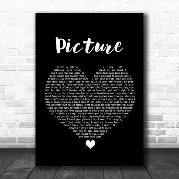Kid Rock Picture Black Heart Song Lyric Wall Art Print