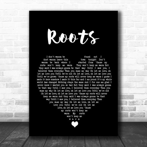 Grace Davies Roots Black Heart Song Lyric Wall Art Print