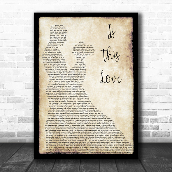 Whitesnake Is This Love Man Lady Dancing Song Lyric Wall Art Print
