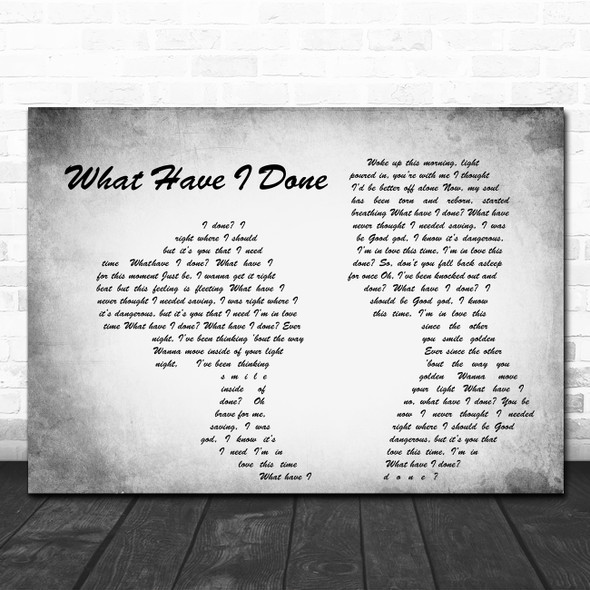 Dermot Kennedy What Have I Done Man Lady Couple Grey Song Lyric Wall Art Print
