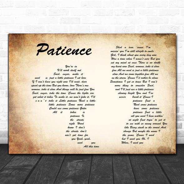 Guns N' Roses Patience Man Lady Couple Song Lyric Wall Art Print