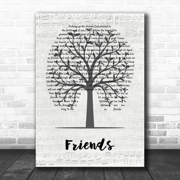 Michael W. Smith Friends Music Script Tree Song Lyric Wall Art Print