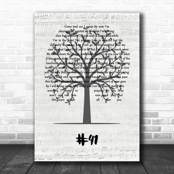 Dave Matthews Band #41 Music Script Tree Song Lyric Wall Art Print