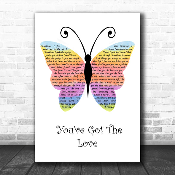 Florence + The Machine You've Got The Love Rainbow Butterfly Song Lyric Wall Art Print