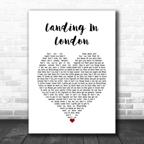 3 Doors Down Landing In London White Heart Song Lyric Wall Art Print
