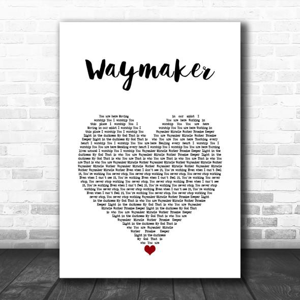 Michael W. Smith Waymaker White Heart Song Lyric Wall Art Print