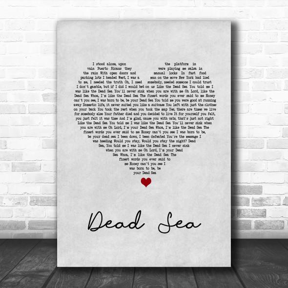 The Lumineers Dead Sea Grey Heart Song Lyric Music Wall Art Print