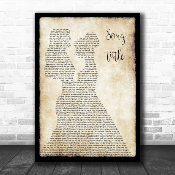 Any Song Lyrics Custom Lesbian Couple Two Women Dancing Song Lyric Print