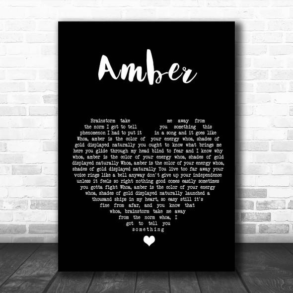 311 Amber Black Heart Song Lyric Print