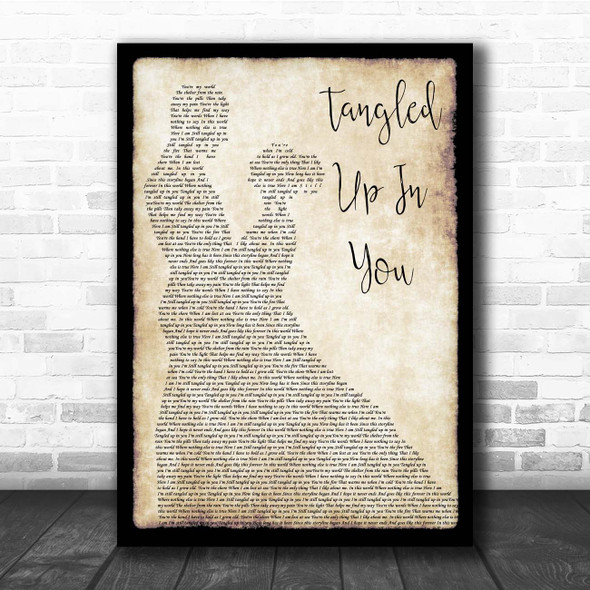 Aaron Lewis Tangled Up In You Man Lady Dancing Song Lyric Print