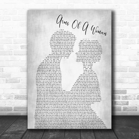 Amos Lee Arms Of A Woman Man Lady Bride Groom Wedding Grey Song Lyric Print