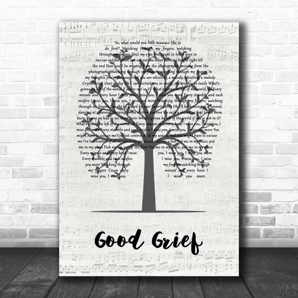Bastille Good Grief Music Script Tree Song Lyric Print