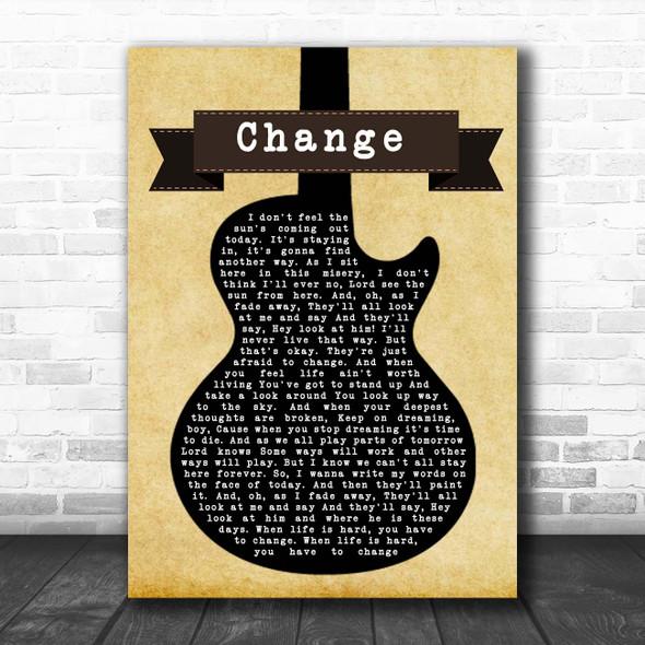 Blind Melon Change Black Guitar Song Lyric Print