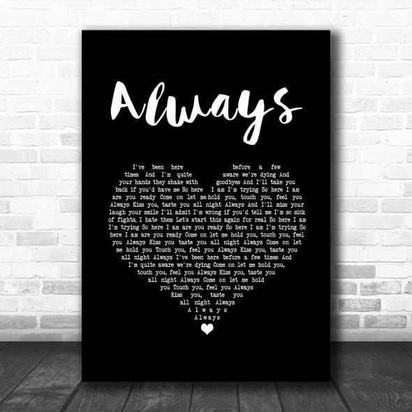 Blink-182 Always Black Heart Song Lyric Print