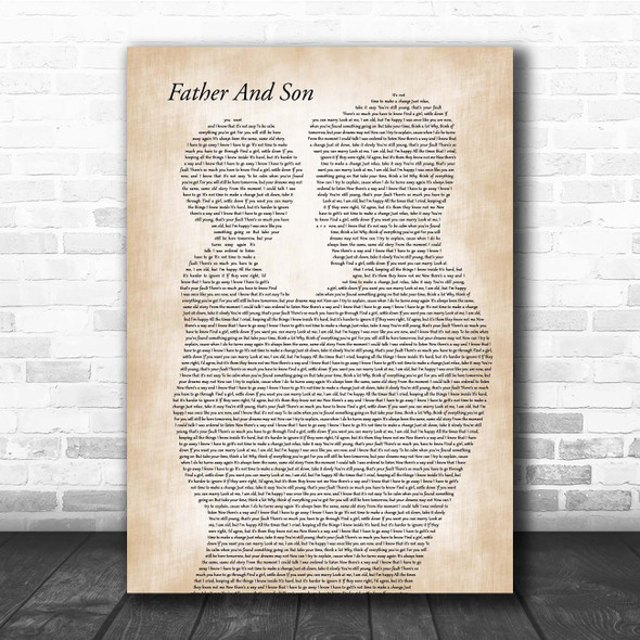 Cat Stevens Father And Son Father & Child Song Lyric Print