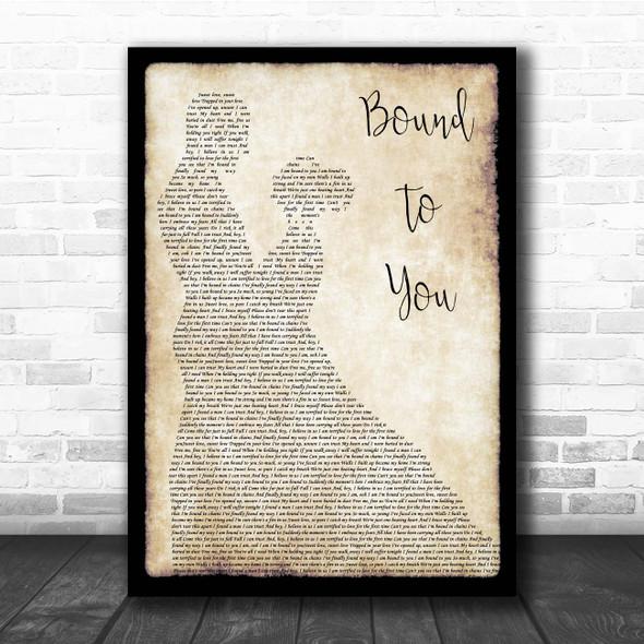 Christina Aguilera Bound To You Man Lady Dancing Song Lyric Print