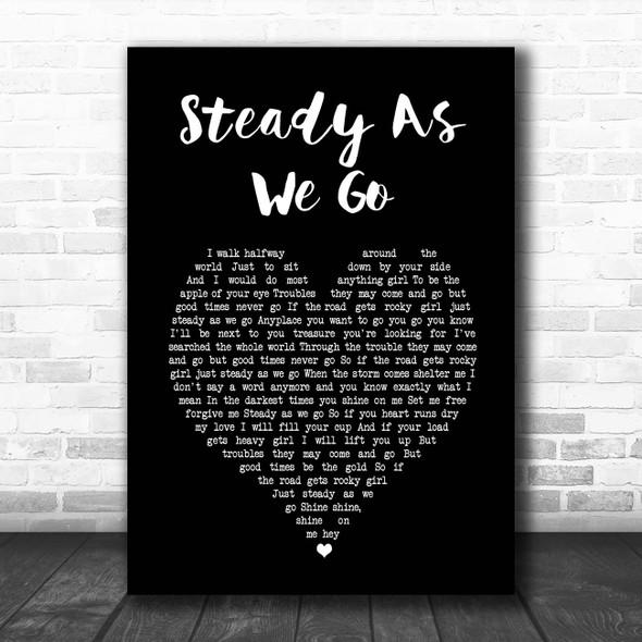 Dave Matthews Band Steady As We Go Black Heart Song Lyric Print