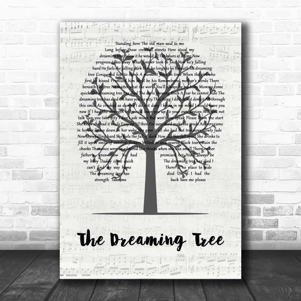 Dave Matthews Band The Dreaming Tree Music Script Tree Song Lyric Print