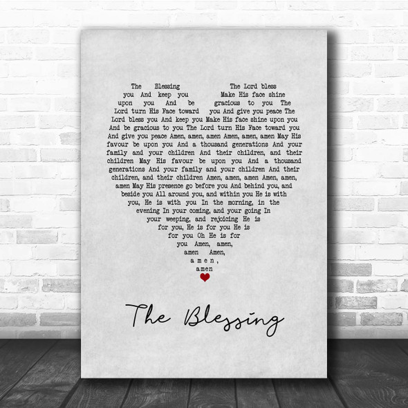Elevation Church The Blessing Grey Heart Song Lyric Print