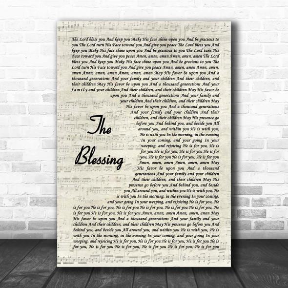 Elevation Worship The Blessing Vintage Script Song Lyric Print