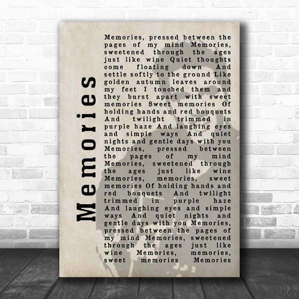 Elvis Presley Memories Shadow Song Lyric Print