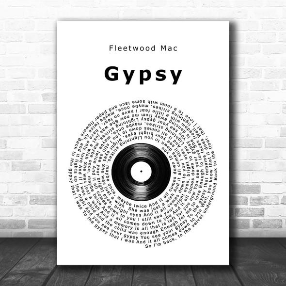 Fleetwood Mac Gypsy Vinyl Record Song Lyric Print