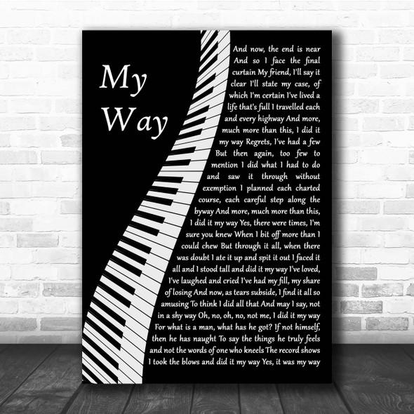 Frank Sinatra My Way Piano Song Lyric Print