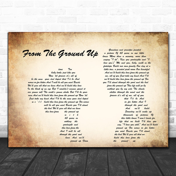 Dan + Shay From The Ground Up Man Lady Couple Song Lyric Music Wall Art Print