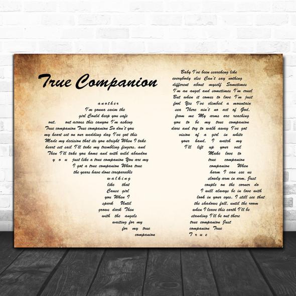 Marc Cohn True Companion Man Lady Couple Song Lyric Music Wall Art Print