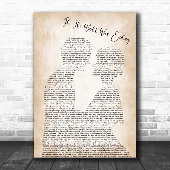 JP Saxe If The World Was Ending Man Lady Bride Groom Wedding Song Lyric Print