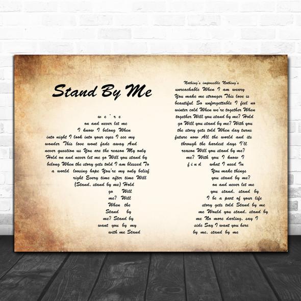 Shayne Ward Stand By Me Man Lady Couple Song Lyric Music Wall Art Print