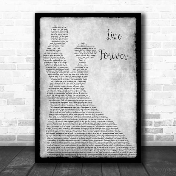 Kane Brown Live Forever Grey Man Lady Dancing Song Lyric Print