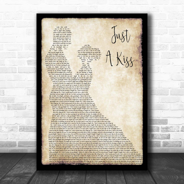 Lady Antebellum Just A Kiss Man Lady Dancing Song Lyric Print