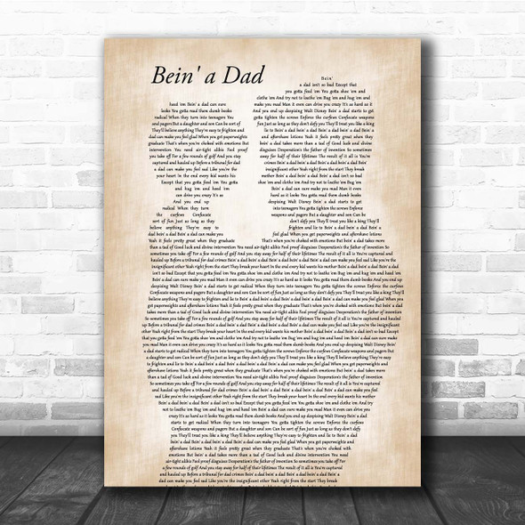 Loudon Wainwright Bein' a Dad Father & Child Song Lyric Print
