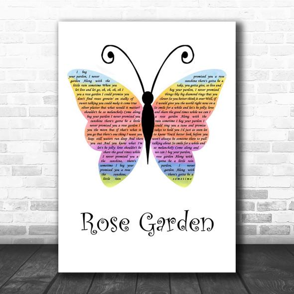 Lynn Anderson Rose Garden Rainbow Butterfly Song Lyric Print