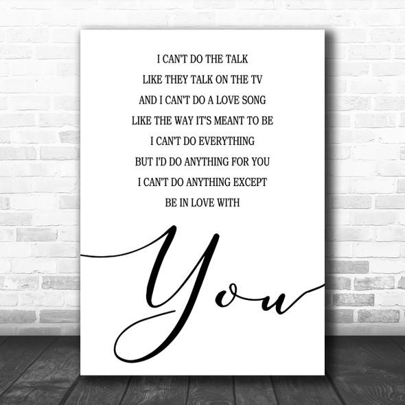 Dire Straits Romeo & Juliet Song Lyric Music Wall Art Print