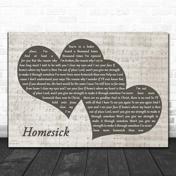 MercyMe Homesick Landscape Music Script Two Hearts Song Lyric Print