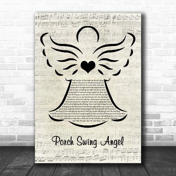 Muscadine Bloodline Porch Swing Angel Music Script Angel Song Lyric Print